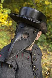 Plague Doctor Mask - Zwart, One-Size