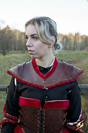 Noble Leather Gorget - Donkerrood