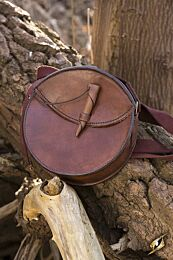 Round Leather Bag - Bruin