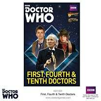 The First, Fourth & Tenth Doctors