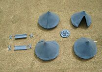 Bell Tents (4 tents, 2 stretchers/beds)