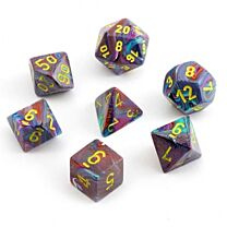 Chessex Festive 7-Die Set - Mosaic with yellow