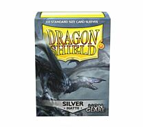 Standard Sleeves - Matte Non-Glare Silver (100 Sleeves)
