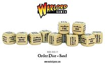 Bolt Action Order Dice - Zandkleurig