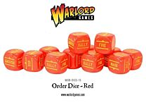 Bolt Action Order Dice - Rood