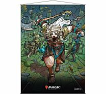 Stained Glass Wall Scroll Magic: The Gathering - Ajani