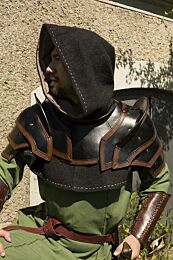 Shoulder Armour & Neck Guard - Zwart/Bruin