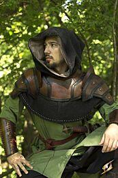 SALE Shoulder Armour & Neck Guard - Bruin/Zwart, LARGE