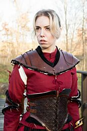 Noble Leather Gorget - Zwart