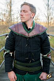 Noble Leather Gorget - Groen