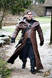 Coat Hellsing - Leather - Bruin