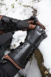 Leather Gauntlet - Zwart