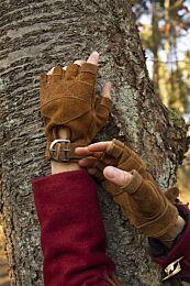 Celtic Gloves Suede - Bruin