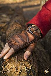 Celtic Gloves Leather - Bruin