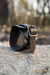 Cuff Bracelet - Zwart, 20 cm