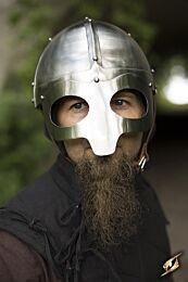 Viking Mask Helmet - Polished Steel