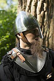 Norman Nasal Helmet - Polished Steel