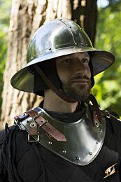 Neck Plate Warrior - Polished Steel