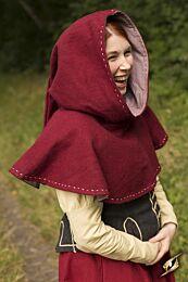 Hood - Medieval - Donkerrood