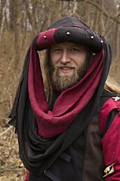 Turban Jafar - Epic Zwart/Donkerrood