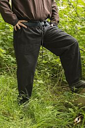 SALE Kinderbroek, 8 t/m 10 jaar - Basic Pants, Zwart