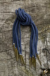 Tie Strings W. Points - Donkerblauw