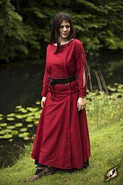 Priestess Dress - Donkerrood