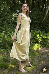 Peasant Dress -  Beige