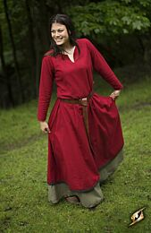Basic Dress - Donkerrood/Bruin