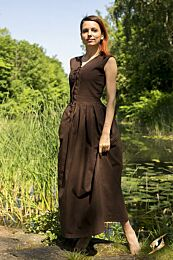 Peasant Dress - Donkerbruin