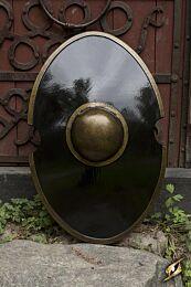 Elliptical Shield - Zwart - 70x45 cm