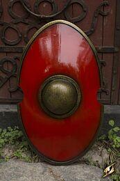 Elliptical Shield - Rood - 70x45 cm