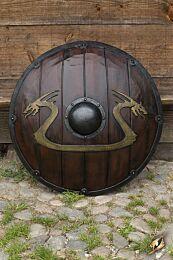 Viking Dragon Shield - Wood, ø80 cm