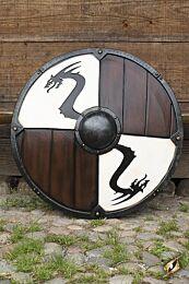 Viking Dragon Shield - Wit, ø80 cm