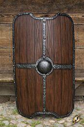 Titan Shield - Wood, 130x85cm