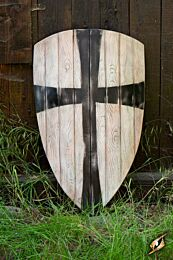 Crusader Shield - White/Black - 90x60 cm