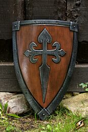 Crusader Shield - Wood/steel - 70x50 cm