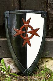 Crusader Shield - Black/White - 70x50 cm