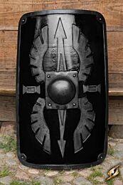 Square Scutum Shield - Zwart, 100x65cm