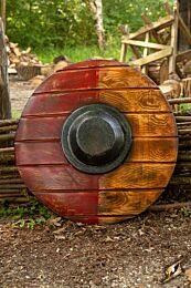 Drang Shield - Red/Wood - 50 cm