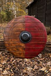 Drang Shield - Red/Wood - 80 cm
