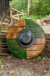 Drang Shield - Green/Wood - 50 cm