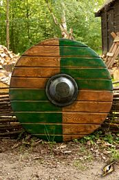 Drang Shield - Green/Wood - ø70 cm