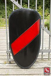 RFB Large Shield - Zwart/Rood, 100x46cm