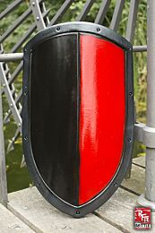 RFB Kite Shield - Zwart/Rood, 60x36cm