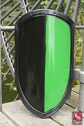 RFB Kite Shield - Zwart/Groen, 60x36cm