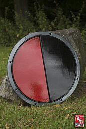RFB Round Shield - Zwart/Rood, ø50 cm