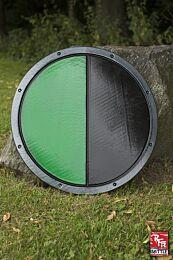RFB Round Shield - Zwart/Groen, ø50 cm