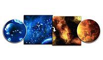 Gaming Mat - Ice Comets / Fiery Nebula (3x3)