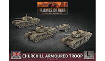 Churchill Armoured Squadron (x3 Plastic)